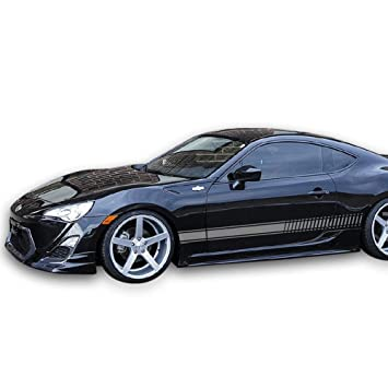 Bubbles Designs 2X Decal Sticker Vinyl Side Racing Stripes Compatible with Toyota GT/FT86,