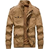Buytop Men's Casual Winter Cotton Military Jackets Outdoor Full Zip Army Coat