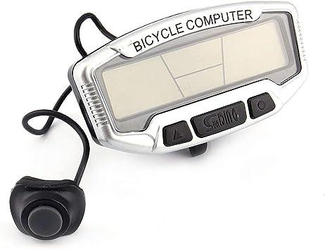 Dibiao Ciclómetro de la Bici del Ordenador de la Bici del velocímetro de la Bicicleta con la exhibición Trasera del LCD de la luz: Amazon.es: Deportes y aire libre