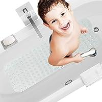 HBselect Alfombra Antideslizante Alfombrillas para Bañera 100 x 40 Cm Alfombrilla Baño Lavable a Máquina Alfombrillas…