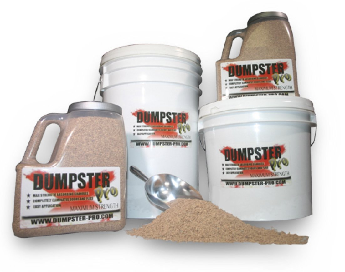 Dumpster Pro Garbage Deodorizer Maximum Strength Absorbing Granules Completely Eliminates Odors and Flies (7 Pounds)