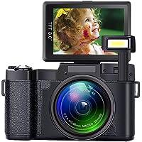 Digital Camera Camcorder Full HD 1080P 24 Megapixels Vlogging Camera 4X Digital Zoom Retractable Flash Light 3 inch Screen