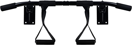 BLACK MARLIN Pull Up Bar Doorway Heavy Duty Chin Up Bar Trainer for Home Gym Dip Bar for Abs Workout