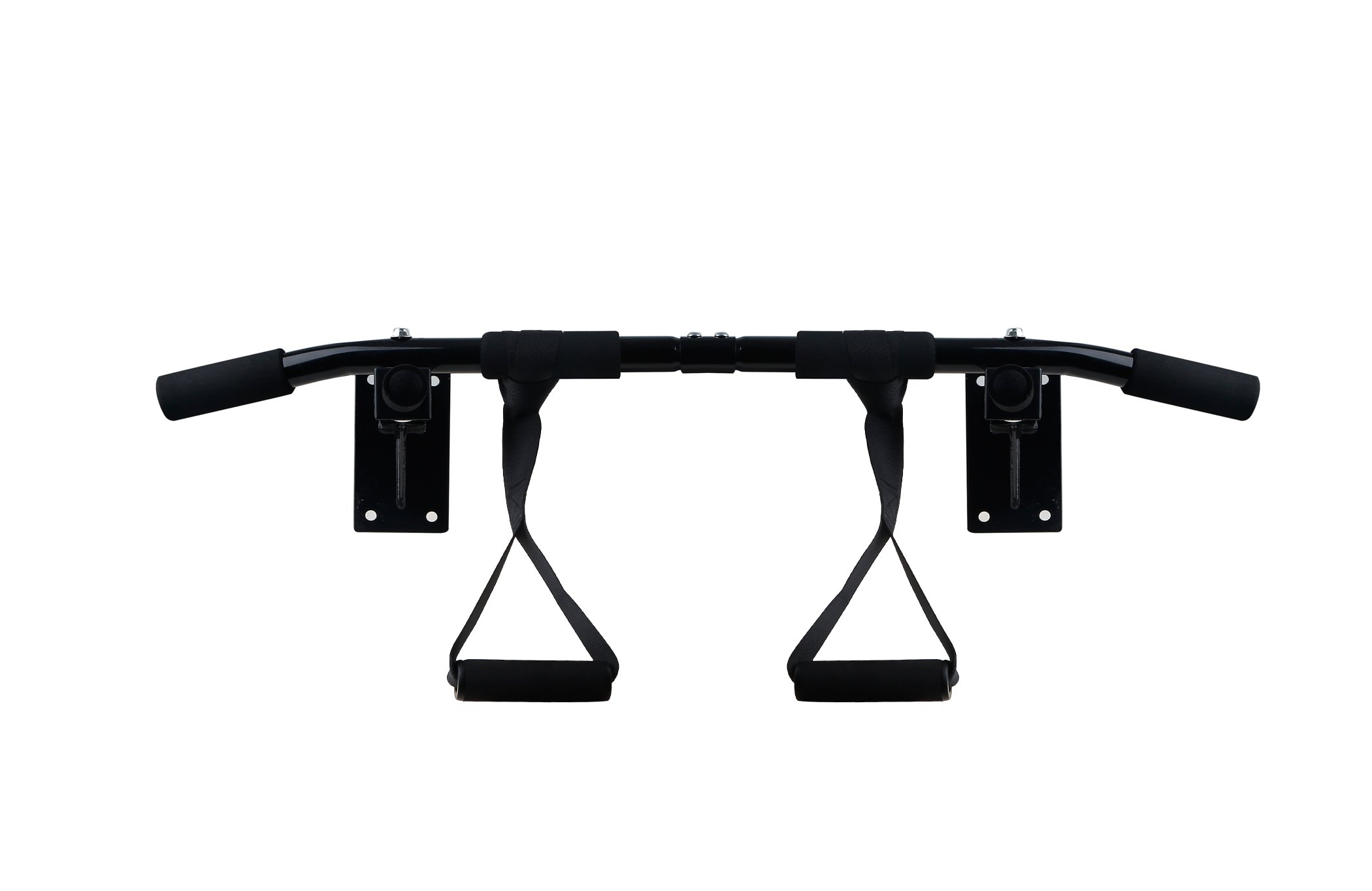 Black Marlin Pull Up Bar (Chin Up Bar) - Home Gym Doorway Mounted Workout Bar - For Upper Body & Core Strength Training