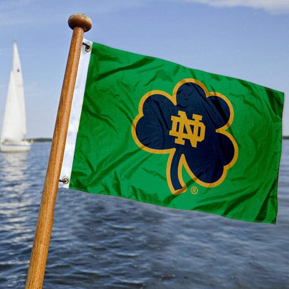College Flags and Banners Co. Bandera náutica y barco de Notre Dame: Amazon.es: Deportes y aire libre