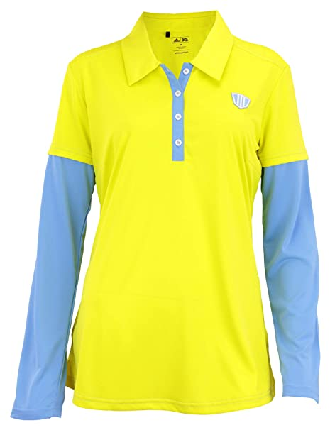 38178e67 Adidas Taylormade Womens FP Long Sleeve Color Block Polo Shirt (XS (0),
