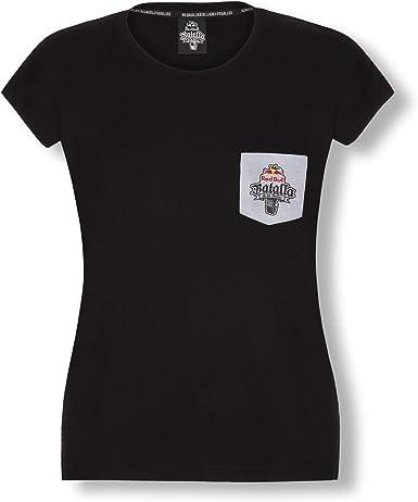 Red Bull Batalla Pocket Camiseta, Negro Mujer Small Top, Batalla de los Gallos Hip Hop Freestyle Original Ropa & Accesorios: Amazon.es: Ropa y accesorios