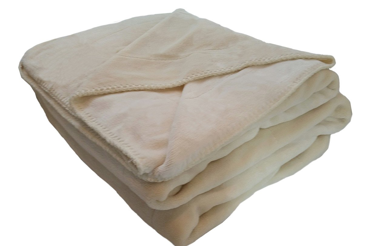 goldenLiving168 Extra Large Super Soft Velour Pet Throw Blanket (Beige Cream)