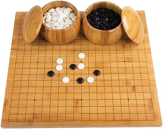 Ding Go Game Set Bamboo Go Board Incluye Bowls and Stones Juego de Mesa de Estrategia Chino clásico: Amazon.es: Hogar