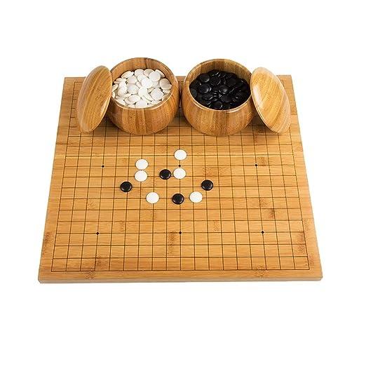 LYQZ Go Game Set Bamboo Go Board Incluye Bowls and Stones Juego de ...