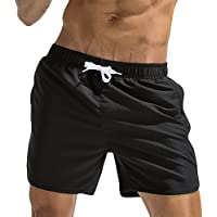 5662760a0ea FENZL Plus Size Men Breathable Trunks Pants Solid Swimwear Beach Shorts  Slim Wear
