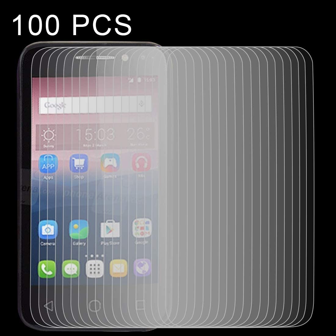 ZYS Screen Protector 100 PCS 0.26mm 9H 2.5D Tempered Glass Film for Alcatel Pixi 4 4.0 inch