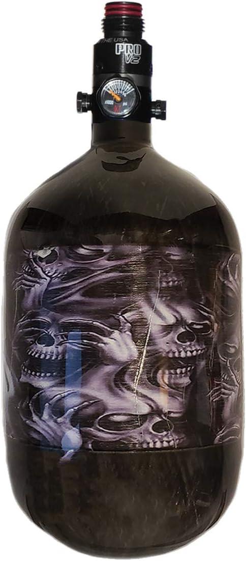 Ninja Carbon Fiber HPA Tank - 68/4500 LITE - PRO V2 REG - No Evil Skulls - Wicked Series