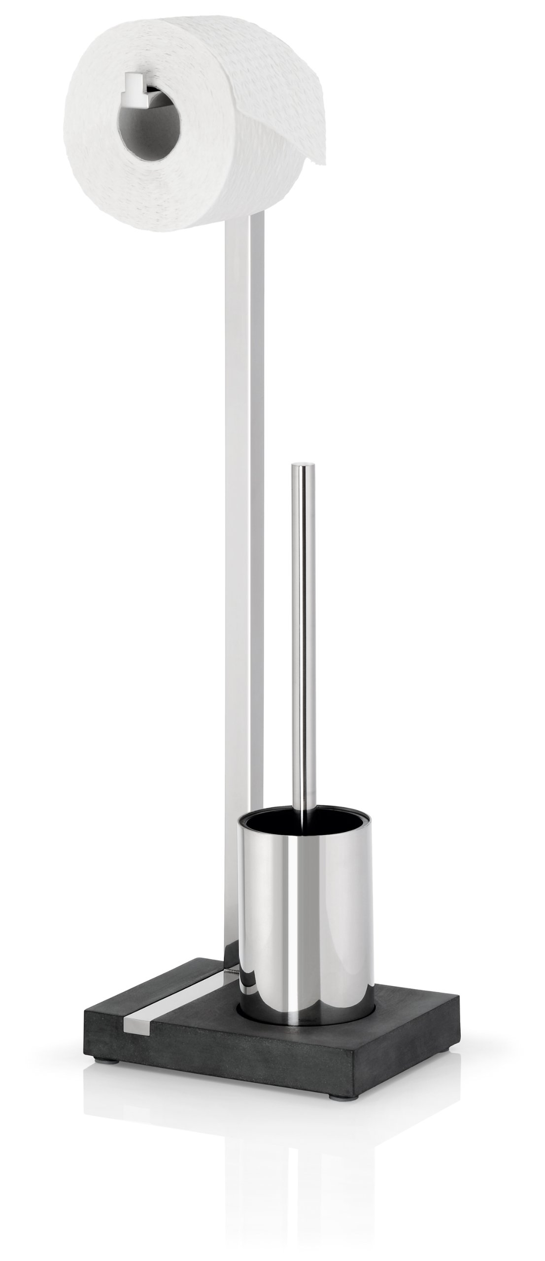 Menoto Toilet Paper Holder and Brush Finish: Polished Stainless Steel