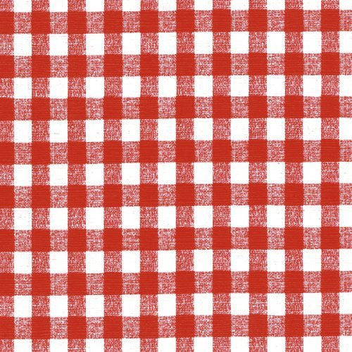 Nordic Shield Deluxe Flannel Backed Vinyl, 54-Inch by 15-Yard Roll, 1/4-Inch Check, Red Gingham