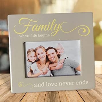 Amazon.com: Family Picture Frame - Family Where Life Begins and Love ...