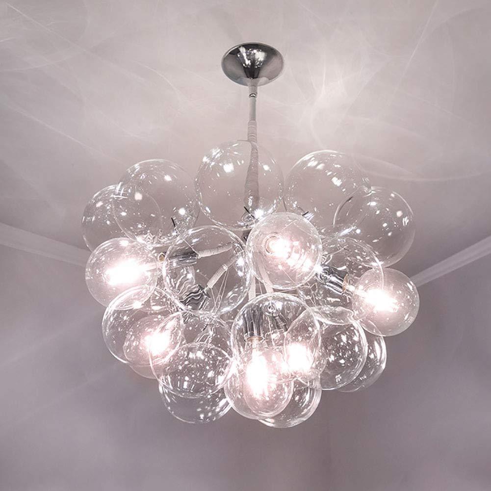 CANCUI モダン 芸術的です ガラス シャンデリア,LED ペンダントライ 6 頭 18 ガラス バブル デザイン の バー カフェ ダイニング 装飾 壁掛けランプ-ホワイトC 70*70cm 70*70cm ホワイトC B07PVSG4T2