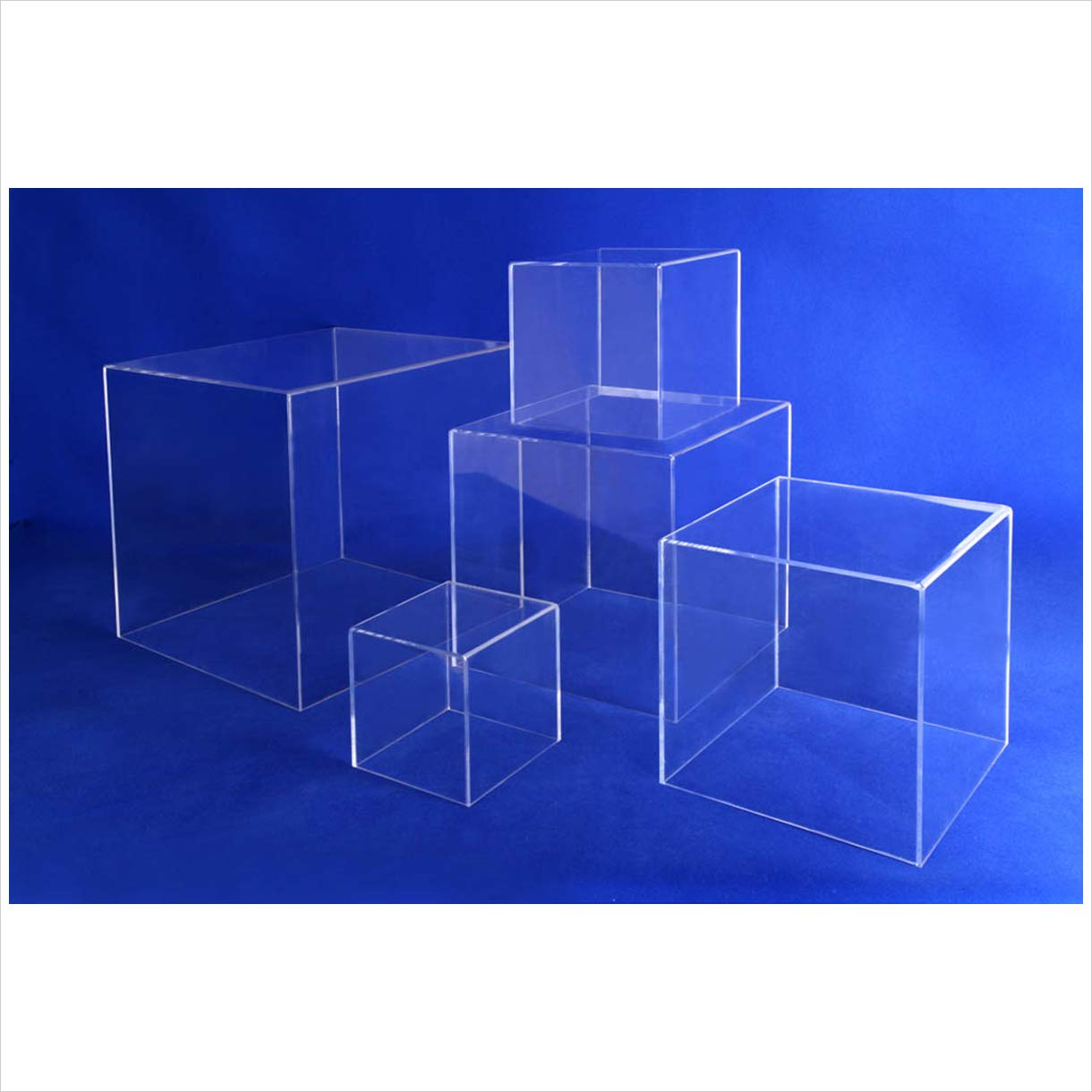 Acrylic 5 Sided CUBES/15''X15''X15'', 3/16'' Thickness/Clear / 1 PC/Box