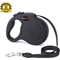 (Black) - Retractable Dog Leash - 4.9m Soft Retractable Leash for Dogs Up to 50kg, Soft Hand Grip, One Button Break…