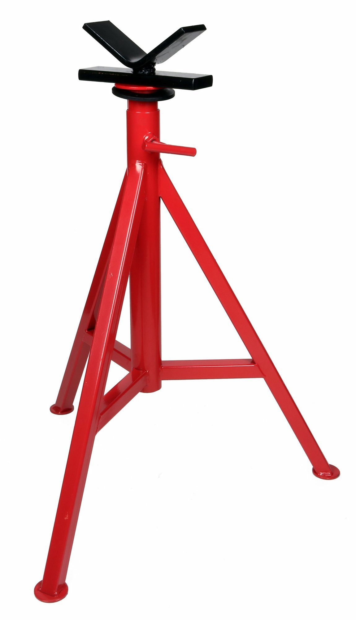Toledo Pipe 56662 1/8''-12'' Portable V High Head Pipe Stand Adjustable 27''-48'' fits RIDGID Model VJ-99