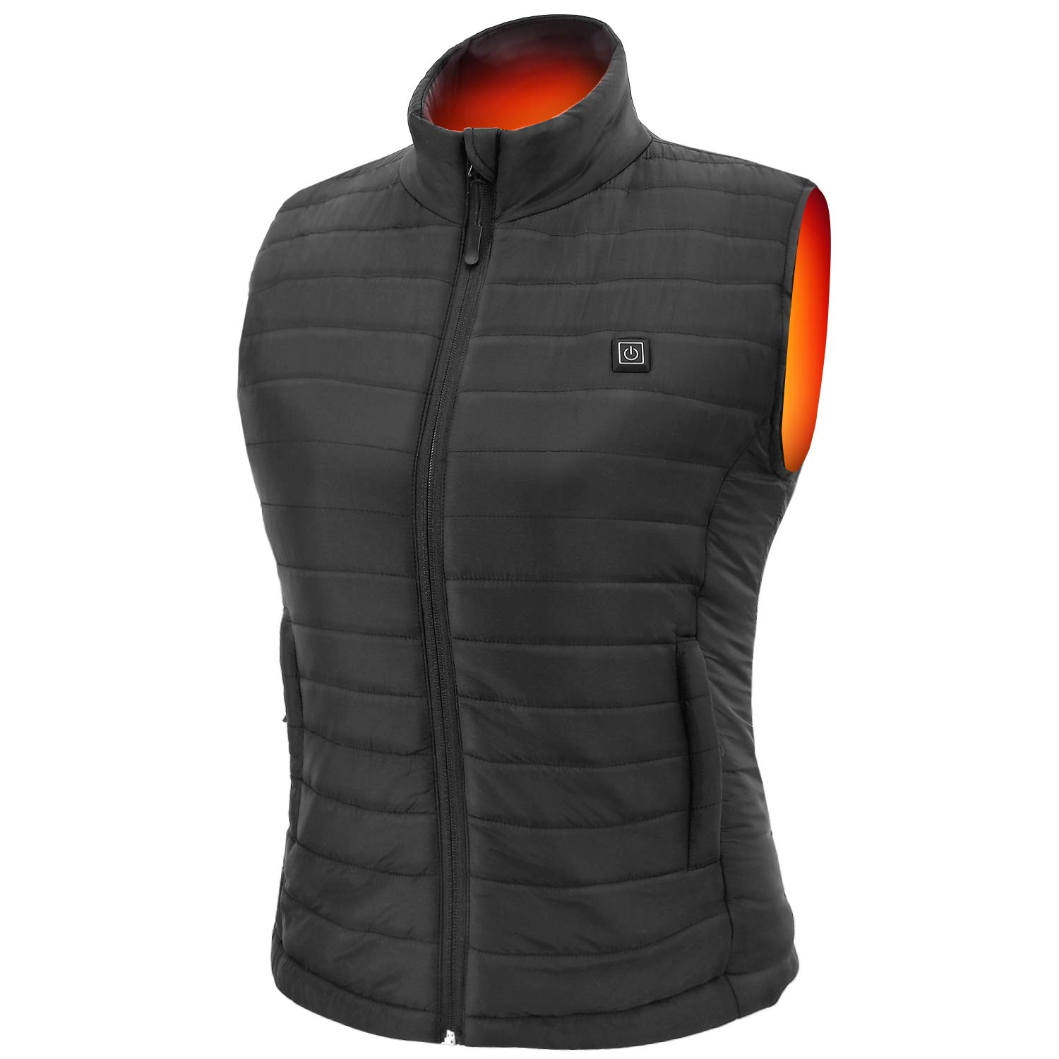 Sunbond Heated Vest with Battery Pack, Electric Warm Gilet Adjustable Temperature, Women's Heated Vest for Outdoor Winter Black by Sunbond