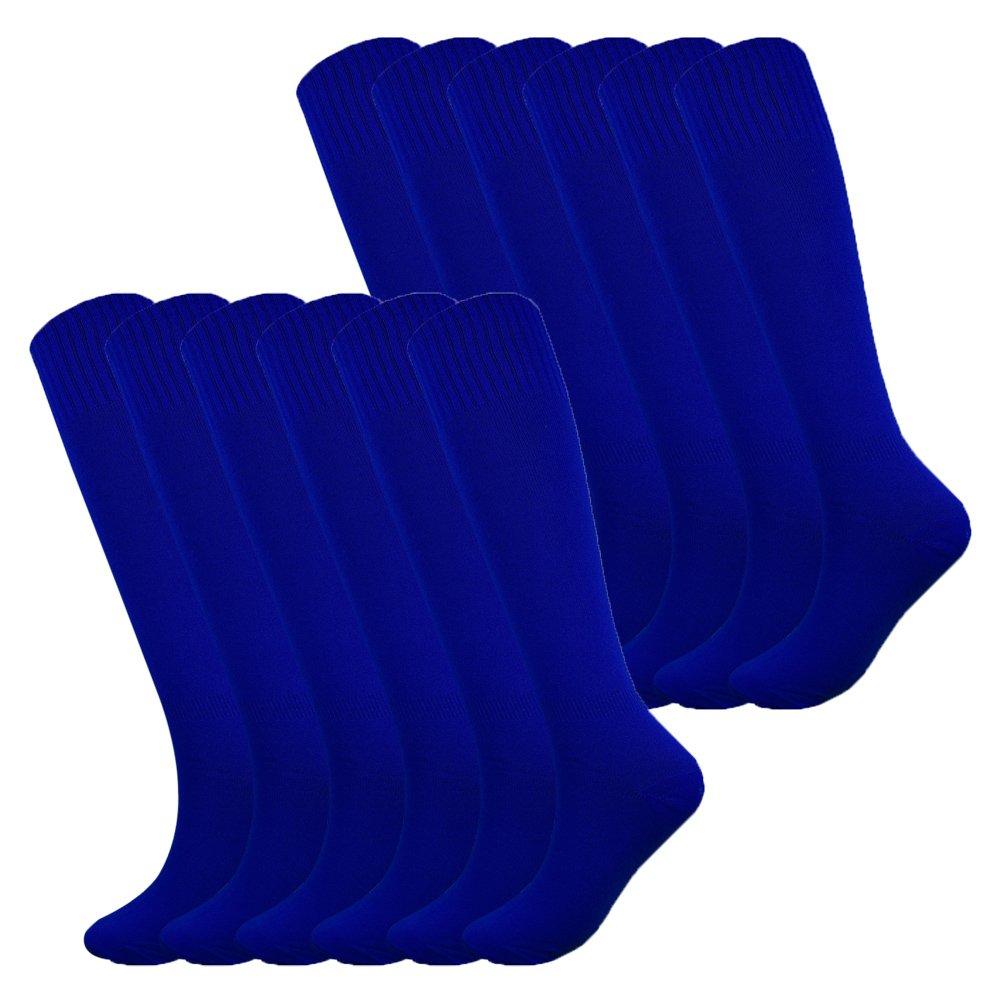 Fitliva Tube Dresses Knee Length Women Mens Sports Team Basketball Uniform Socks (12Pack-Royal Blue) by Fitliva