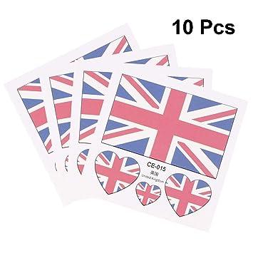 Amosfun 10 UNIDS Tatuajes Temporales Tatuajes Británicos de la ...
