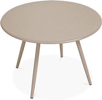 Oviala Table Basse de Jardin Ronde Diamètre 40 cm, Palavas