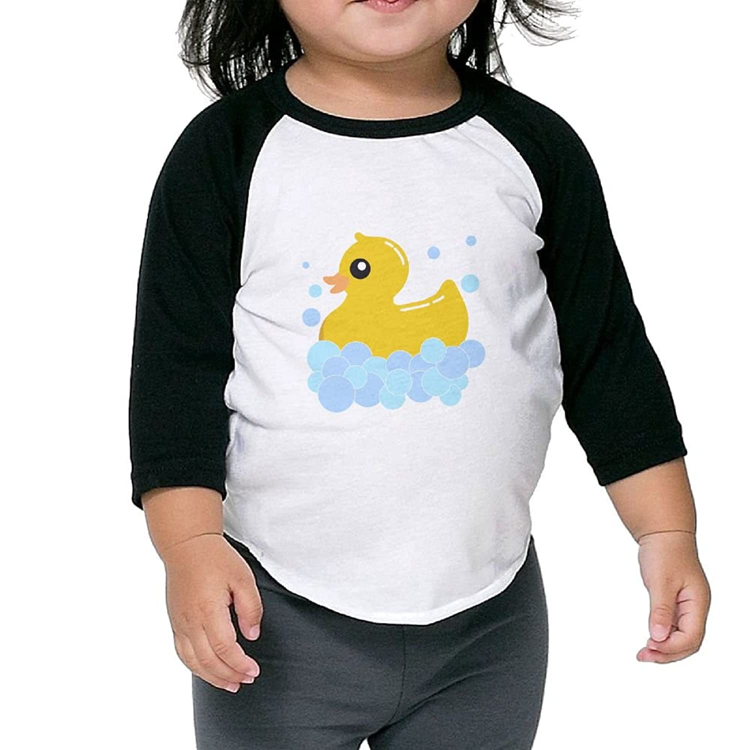 Wholesale CHENLY Unisex Kid's Sleeves Comfortable Small Duck Cotton 3/4 Sleeves T-Shirt For Girl supplier