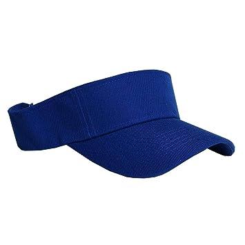 Amazon.com   Visor Sun Plain Hat Sports Cap Colors Golf Tennis Beach New  Adjustable Men Women (Royal Blue)   Beauty f10c6fec3309
