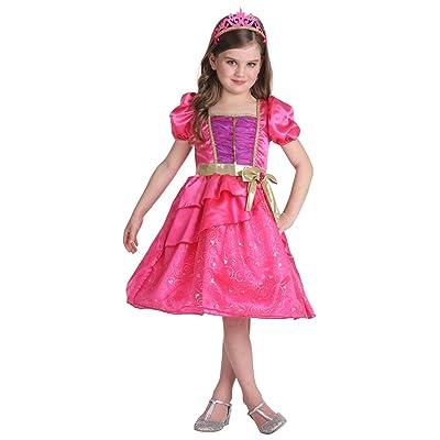 JFEELE Fairy Girls Pink Princess Dress with Cro...