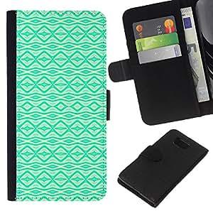 Vibrante patrón nativo Wallpaper- la tarjeta de Crédito Slots PU Funda de cuero Monedero caso cubierta de piel Para Samsung ALPHA G850