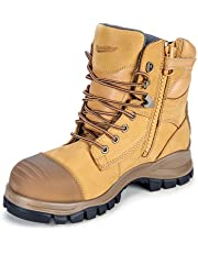 Blundstone 992 Steel Toe Safety Men's Work Boots. Wheat, 150mm, Lace & Zip.