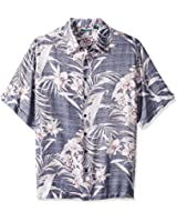Cubavera Men's Big and Tall Short Sleeve All-Over Floral Print Woven Shirt