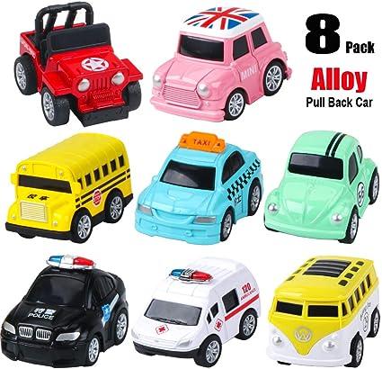 Set Camión Vehículo Mini Tire hacia atrás Coche Modelo Racer Juguete de niño 6 un