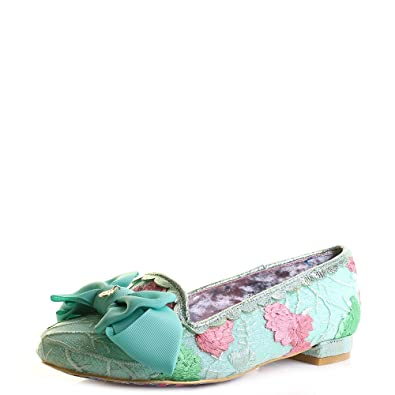 Irregular Choice Green Floral vert - Chaussures Ballerines Femme