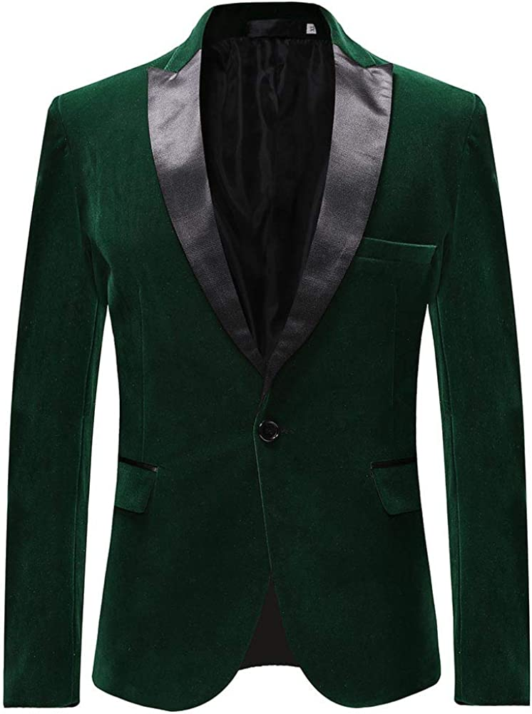 Mens Peaked Lapel 1 Button Dinner Jacket Wedding Blazer Prom Tuxedo
