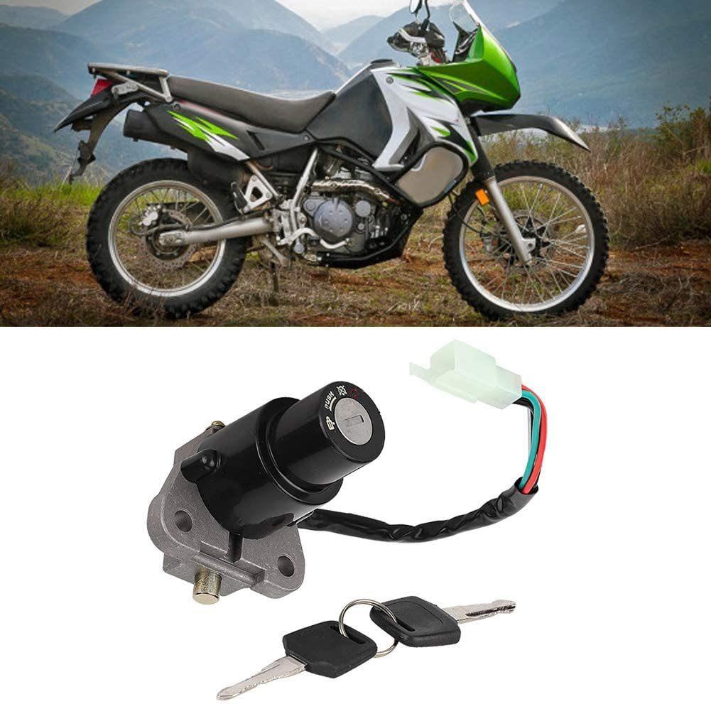Ignition Key Switch Fit for Kawasaki KLR650 KLR 650 1987-2007 Suuonee Ignition Switch