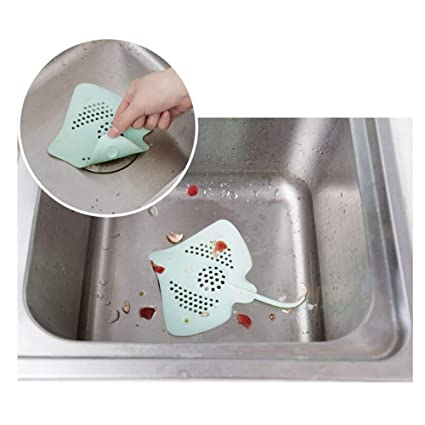 RIANZ Silicone Ray Fish Sink Filter Bathroom Sucker Floor Drains Shower Hair Sewer Filter Colanders Strainer (Colour May Vary)