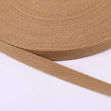 Cinta de tela de 20 mm Chevron, 100% algodón, para envolver accesorios de embalaje 2 cm 12 Khaki: Amazon.es: Hogar