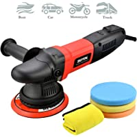 """ZOTA Buffer Polisher, 15mm Long-Throw Orbital Polisher, 6"""" /850w Dual Action Polisher with Variable Speed/Soft Start/3 Professional Pads."""
