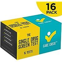 Care Check Marijuana THC Single Panel Drug Screen Test, Individually Wrapped 16 Home Drug Test Kits