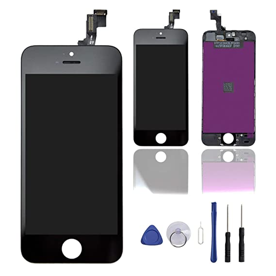 5855e5f93bd08c Amazon.com  Screen Replacement for iPhone 5S Black