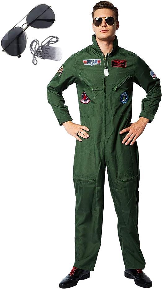 Amazon.com: ReneeCho - Traje de vuelo para hombre, disfraz ...
