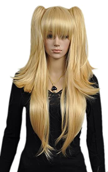 7a05bbe6c2a62 QIYUN.Z Haarteile Damen Perücken Gerade Lange Blonde Pferdeschwanz ...