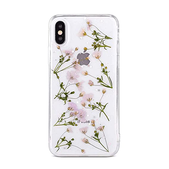 Amazon com: DIY Natural Pressed Flower Patterned Phone Cases