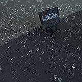 LifeTek Windproof Travel Umbrella Compact Automatic Open Close Small Folding Teflon Repellent Canopy Umbrellas fit Golf Purse Backpack Wind Resistant for Men and Women Traveler FX1 42 inch Black