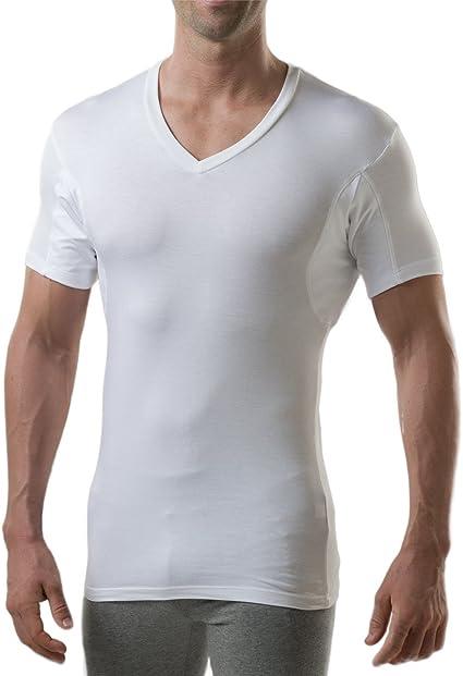 TALLA L. Thompson Tee - Camiseta Interior antisudor con Refuerzo EN Las Axilas - Corte Ajustado - Cuello de Pico