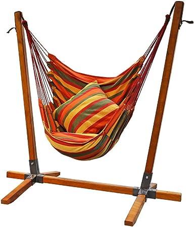 Asiento de Columpio Silla de Columpio Silla de Columpio de jardín Columpio de Exterior Silla Mecedora de Interior para Adulto balcón al Aire Libre (Color : Brown, Size : 110 * 90 * 150CM): Amazon.es: Hogar