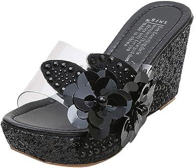 Women's Wedge Sandal,Ladies Rhinestone